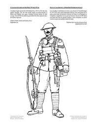 Kleurplaat Soldaat Wereldoorlog 1 Thema Militair Erfgoed Groep 5