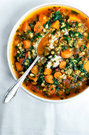 carrot red lentil and spinach soup occasionallyeggs