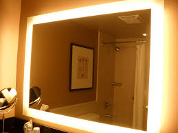 Bathroom mirrors and lighting ideas Illuminated Bathroom Mirror With Lights Large Bostonbeardsorg Bathroom Mirror With Lights Decorate Ideas