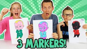 3 Marker Challenge W Our Dad Youtube
