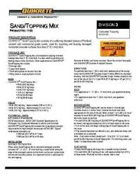 Quikrete Sand Topping Mix Coverage Chart Sand Topping 60 Lb High Strength Concrete Mix