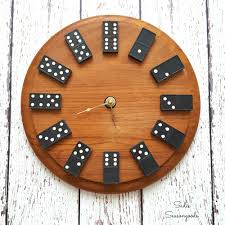Game With Rocks And Wooden Board DIY Vintage Domino Wall Clock A Perfect and Easy Gift for Guys 53