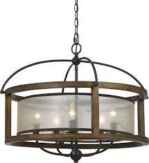 cal fx 3536 5 mission wood chandelier lighting loading zoom