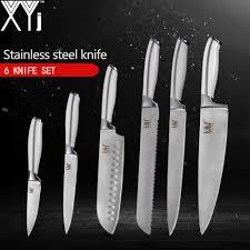 <b>XYj</b> Kitchen <b>Knives 6pcs Set</b> 3.5, 5, 7, 8, 8, 8 inch High Carbon ...