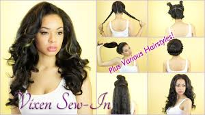 Sew In Hairstyles Long Hair The Vixen Sew In Launches In London Uk Various Hairstyles