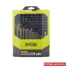 <b>Набор сверл и бит</b> 86 предметов Ryobi RAK86MiXC 5132002699 ...