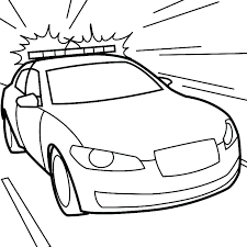Police Car Coloring Pages For Preschoolers Kid Drawing Car At Free