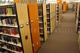track rolling library shelving storage