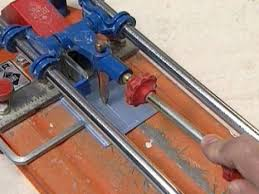 cut glass tiles with tile cutter