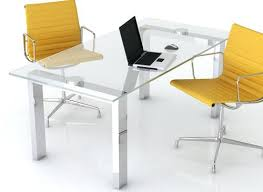 Medium size of Glass Office Desk Ikea With Wood And Single Legs Galant ...