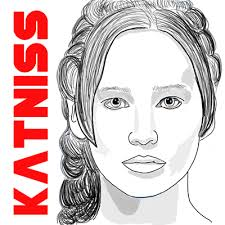 how to draw katniss everdeen from the hunger games aka jennifer lawrence