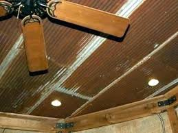 corrugated tin ceiling basement