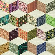 Best 25+ Geometric quilt ideas on Pinterest | Stripe quilt pattern ... & Vintage+Quilt+Patterns | SHIFTING CUBES (Necker's Cube) - Antique Geometric  Quilt Adamdwight.com