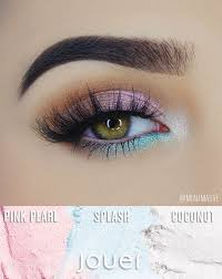 the mermaid iridescent eyeshadow palette by jouer cosmetics includes 4 gorgeous shimmering shades perfect for