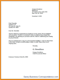 Formal Letter Format To Company Formal Letter Format Sample Business Cover Model Of In