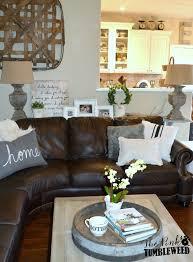 the pink tumbleweed dark brown sofa console table design