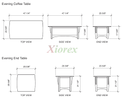 Coffee Table Height Standard Furniture Throughout Dimensions Designs ...