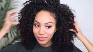 Easy Cute Hairstyles For Medium Length Natural Curly Hair Youtube