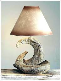 lamp deer horn table lamps stacked rocky mountain ram uttermost stag cow