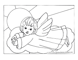 Little Jesus And Me Angel Coloring