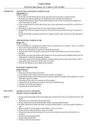 Business Coordinator Resume Samples Velvet Jobs