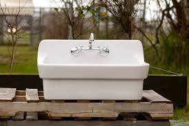 amazon com vintage style high back farm sink original porcelain