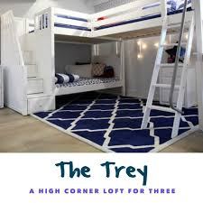 One of the best qualities of Maxtrix triple corner bunks is the entrance to  the top beds. Climb safely on the Trey with an angled ladder, which  features ...