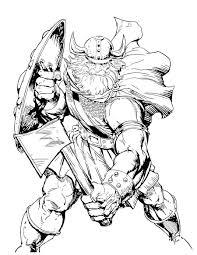 Viking Coloring Pages Vikings Logo Page Printable Click The Warrior