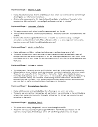 Eriksons Psychosocial Stages Summary Chart Pages 1 4