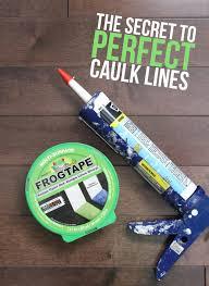 the trick to perfect crisp caulk lines