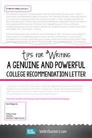 good recommendation letter for college tips for writing a college recommendation letter weareteachers