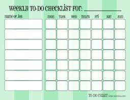 Weekly Checklist Patterned Weekly To Do Chore Checklists Free Printable Downloads