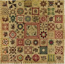 ART & ARTISTS: American Folk Art - part 7 & 1843 Album Quilt cotton and ink with cotton embroidery 236.8 x 241.9 cm.  American Folk Art Museum, New York City Adamdwight.com