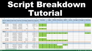 script breakdown sheet how to use create a script breakdown youtube