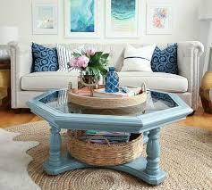 woven basket trays for coastal style