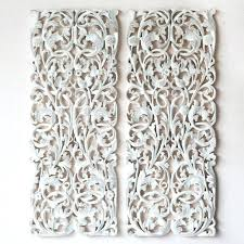wooden carved wall hangings pair of wall art panel wood carving sculpture carved wall art panels