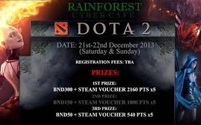 rainforest cyber cafe dota 2 tournament