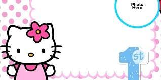 Printable Hello Kitty Invitations Personalized Hello Kitty Invitation Template Caseyroberts Co
