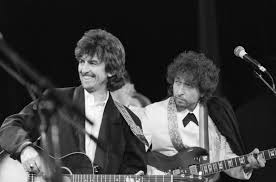 bob dylan did he deserve nobel literature prize billboard george harrison and bob dylan