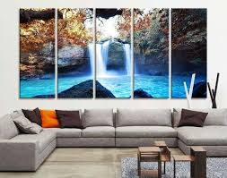 large art print waterfalls in forest canvas prints waterfalls and lake large art canvas on wall art canvas picture print with waterfall wall art extra large wall art canvas print