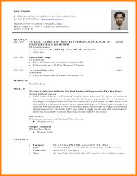 Resume Template Sample Resume For Computer Science Fresh Graduate