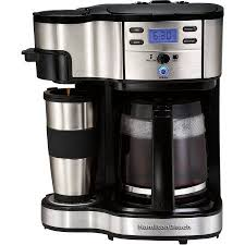 You can wake up to the pleasant aroma of a fresh batch of coffee by setting a brew time hours in advance. Hamilton Beach 2 Way Brewer Model 49980z Walmart Com Camping Coffee Maker Hamilton Beach Coffee Maker Coffee Maker