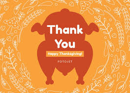 Turkey Happy Thanksgiving Greeting Card Template Template Fotojet