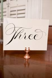 table number holders gold. set of 15 rose gold table number holders