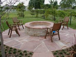 Alluring Outdoor Patio Designs With Fire Pit Also Budget Home