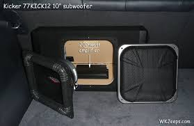 jeep grand cherokee wk kicker speakers and amplifier upgrade subwoofer amplifier location