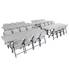 folding chairs and tables. Unique Folding Lifetime Combo  4 8u0027 Commercial Grade NonNesting Folding Tables And Throughout Chairs And I