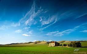 Farm House Landscape wallpaper