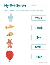 free five senses worksheets for kids 5 craft lesson plan ...