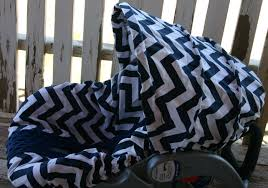 minky infant car seat cover ready to ship navy blue and white